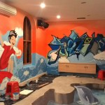 Graffiti indonesia mural jasa lukis mural 3d trick art for Mural indonesia
