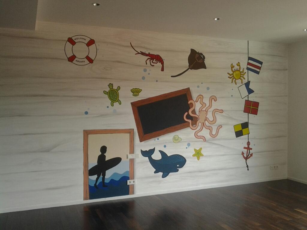 Mural vektor ruangan anak anak bertemakan hewan dinosaurus for Mural hitam putih