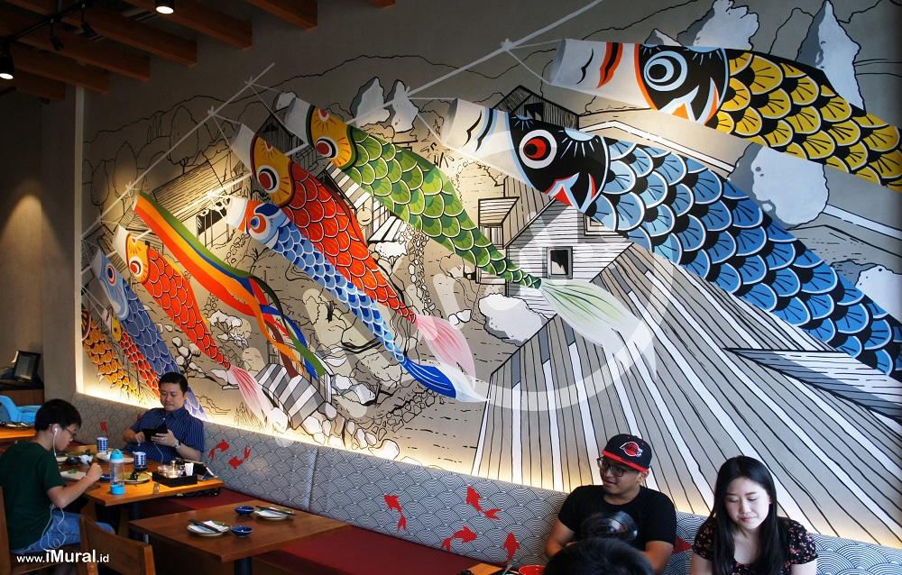 Jasa lukis mural lukis dinding 3d trick art di jakarta for Mural indonesia