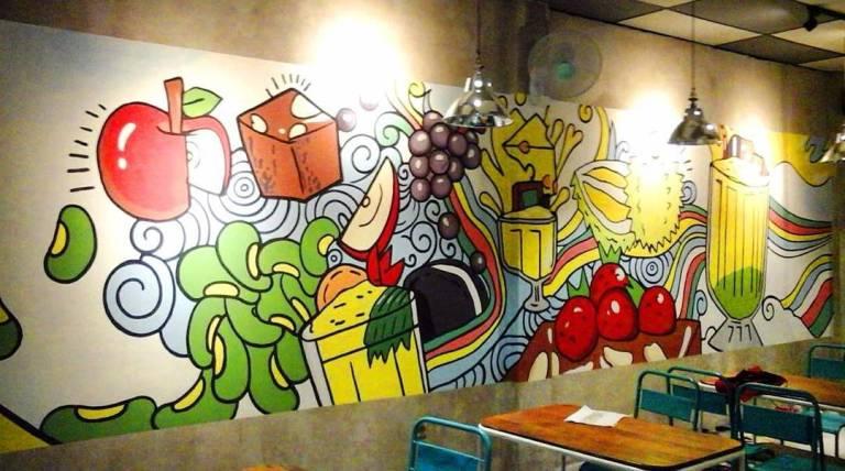 referensi mural untuk cafe dan resto yang bikin pengunjung