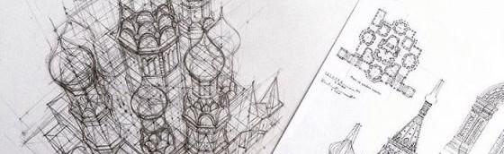 (Bahasa) 23 Sketsa Arsitektural Karya Mahasiswa Dari Perguruan Tinggi di Rusia