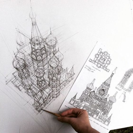 sketsa arsitektural 1