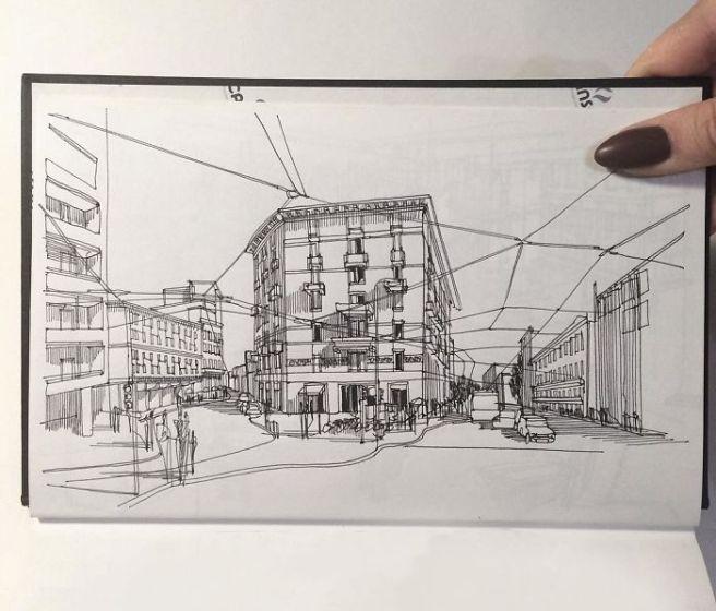 sketsa arsitektural 13