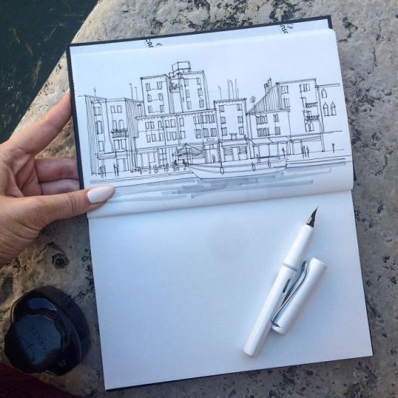 sketsa arsitektural 17