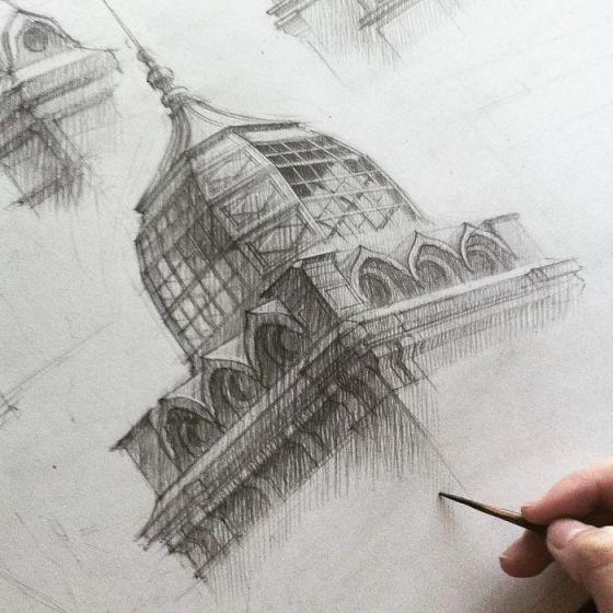 sketsa arsitektural 19