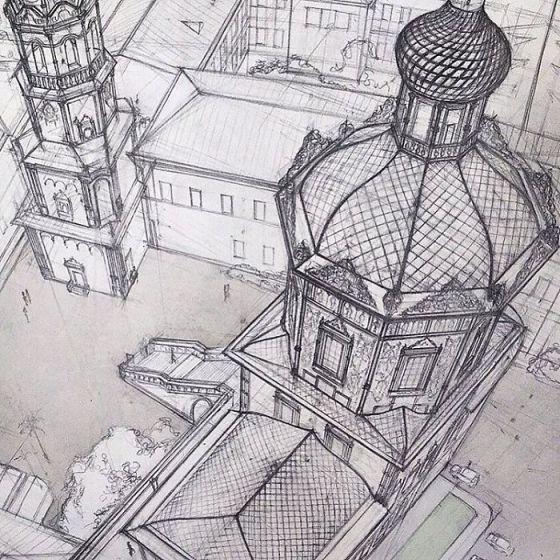 sketsa arsitektural 20