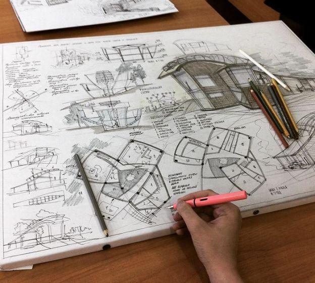 sketsa arsitektural 21