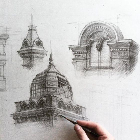 sketsa arsitektural 3