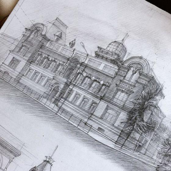 sketsa arsitektural 4