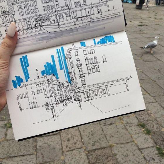 sketsa arsitektural 23