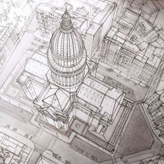 sketsa arsitektural 6
