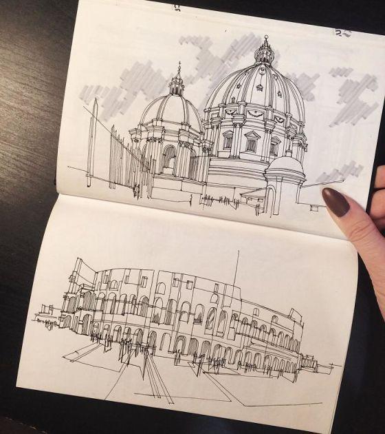 sketsa arsitektural 9